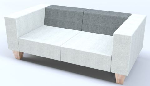 Hugo Designer Two Seater Sofa With Wooden Feet