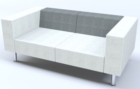 Hugo Two Seater Sofa With Chrome Feet