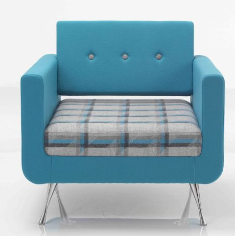 Liberty Single Seater Sofa Front Face Shown With Button Back Detail