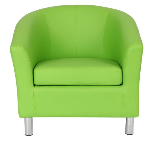 Zoron Tub Chair In Lime Green Face View