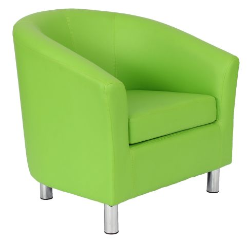 Zoron Tub Chair In Lime Green Front Angle