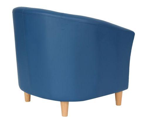 Zoron Navy Blue Tub Chairs Rear Angle