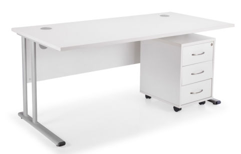 Flite Rectangular Desk Bundle Deal B