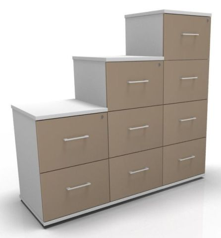 Avalon Prime Two Tone Filing Cabinets Mocha And White