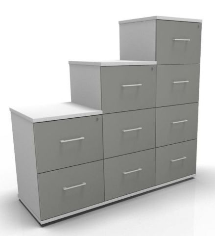 Avalon Prime Two Tone Filing Cabinets Grey & White