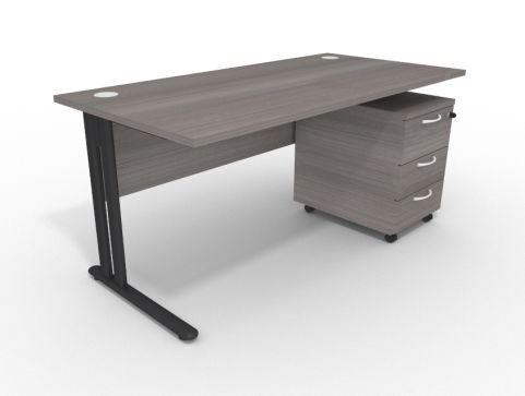1600mm Optimize Desk With Pedestal Crop