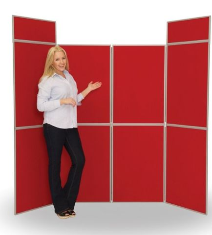 8 Panel Display Screen In Red