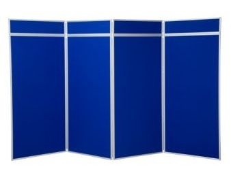 Extra Large Folding Display Panel Board In Blue
