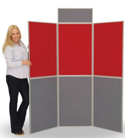 6 Panel Display Screen In Red And Green