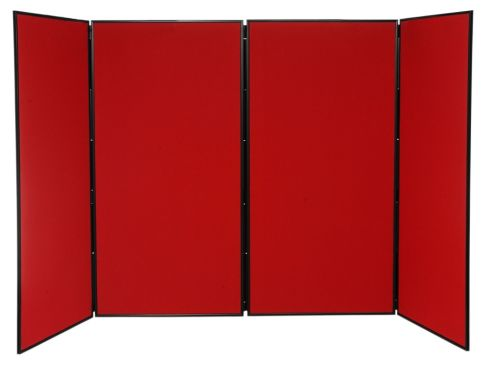 Extra 4 Large Folding Display Panels In Red