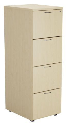 Flite Four Drawer Filing Cabinet In Maple