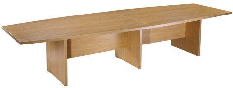 Americano Large Boardroom Table In Crown Cut Oak