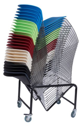 Pinta Chairs Stacked On Trolley
