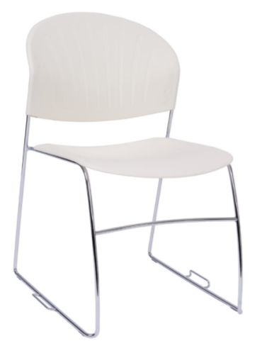 Pinta High Density Stacker In White