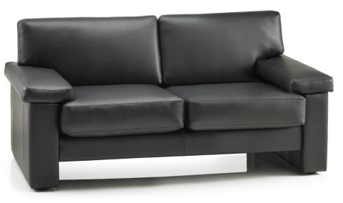 Taurus Two Seater In Black Leather