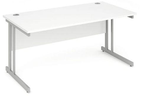 Solar Rectangular Desk In White