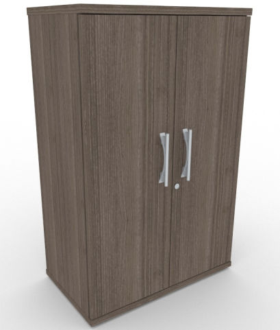 AVALONPOST Anthracite Double Door Cupboard With Metal Door Handles, 17 Finishes, Free Delivery And Installation