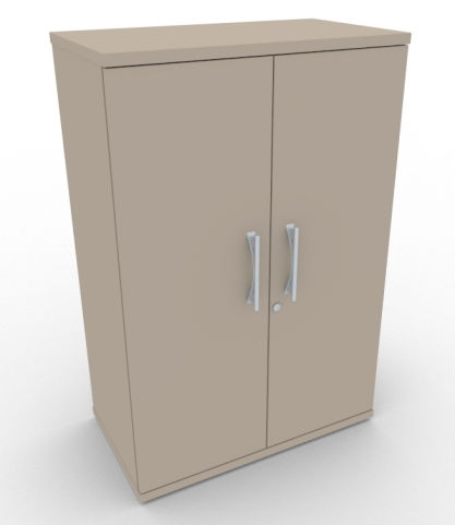 AVALONPOST Mocha Double Door Cupboard With Metal Handles, Lots Of Storage Space, 5 Year Warranty, Free Delivery