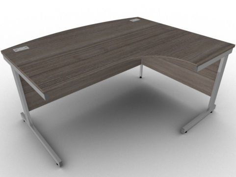 Avalon7 Right Hand Bow Fronted Corner Desk, Free Delivery And Installation