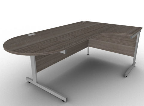 AVALON9A Right Hand Interactive Anthracite Corner Desk, 5 Year Warranty, Office Meeting Desk