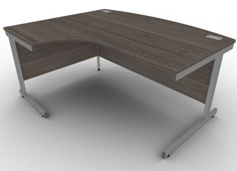 Avalon Anthracite Left Hand Bow Fronted Office Corner Desk, 17 Finishes, Free Installation