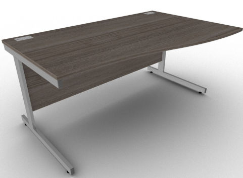 Avalon Anthracite Right Hand Wave Desk, Free Installation, 17 Finishes