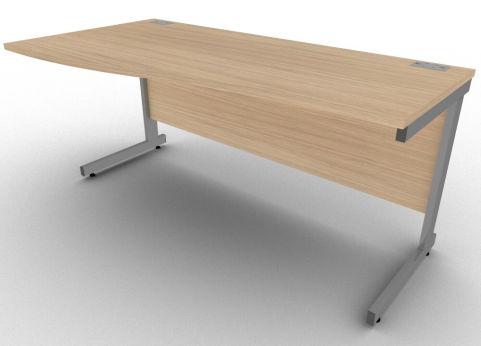 Avalon Verade Oak Left Hand Office Wave Desk