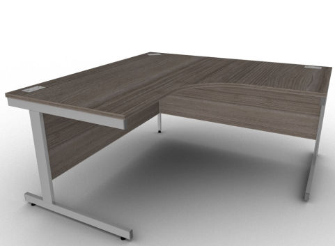 Avalon Large Steel Framed Two Person Office Desk In Anthracite
