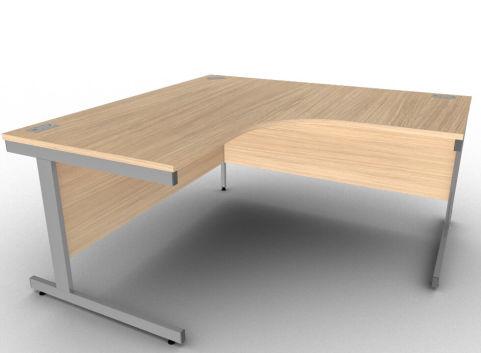 Avalon Large Two Person Office Desk In Verade Oak
