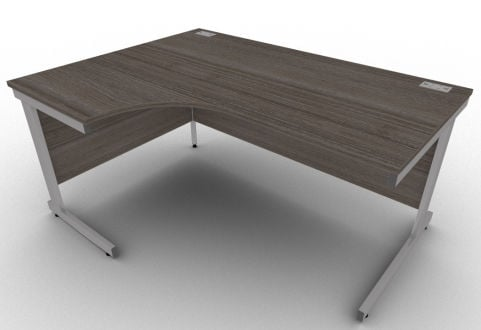 Avalon Anthracite Executive Left Hand Corner Desk, Free Delivery, 5 Year Warranty
