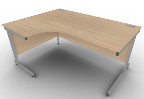 Avalon Verade Oak Left Hand Corner Office Desk, 17 Finishes, Free Installation