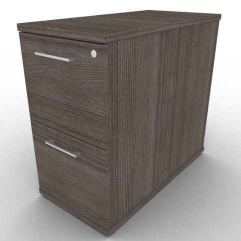 800mm Deep Anthracite Two Drawer Pedestal For Additional Office Desk Space