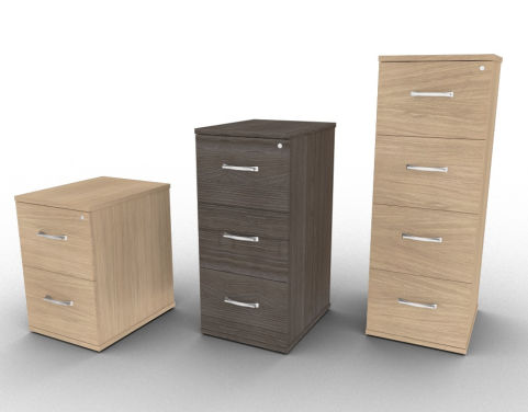 Avalon 2, 3 Or 4 Drawer Filing Cabinet, 15 Different Wood Finises, Stylish And Modern Filing Cabinet, Free Delivery