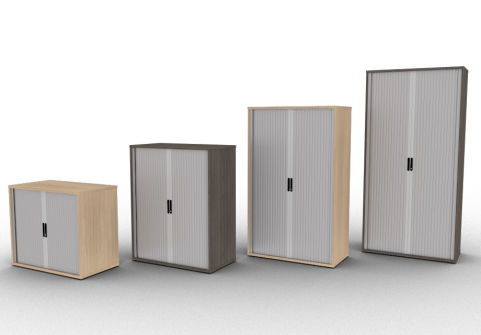 Avalon Side Tambour Cupboard Available In A Choice Of 15 Finishes With Free Delivery And A 5 Year Warranty