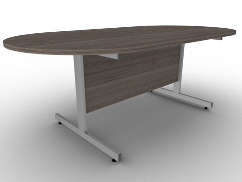 Avalon Anthracite Double D End Conference Table With Steel Cantilever Legs And Free Installation