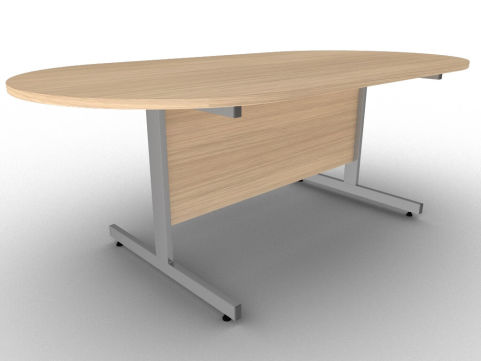 Verade Oak Conference Table With Sturdy Steel Cantilever Legs And A Scratch Resistant MFC Construction