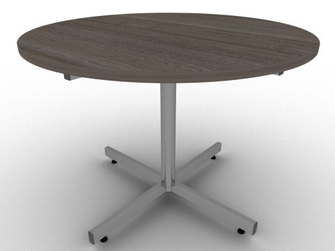 Avalon Anthracite Circular Table Designed For Meeting Rooms And Manufactured In The UK