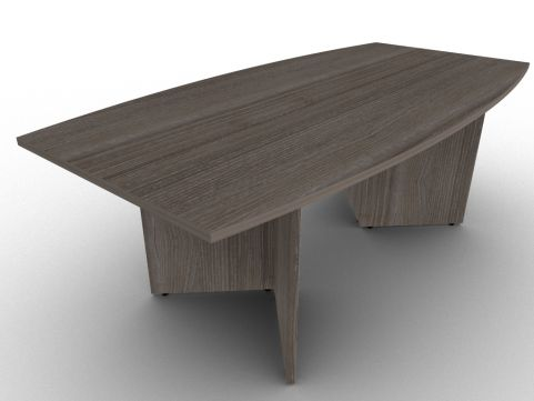 Anthracite Avalon Boat Shaped Arrowhead Base Office Table, Scratch Proof MFC, Free Delivery