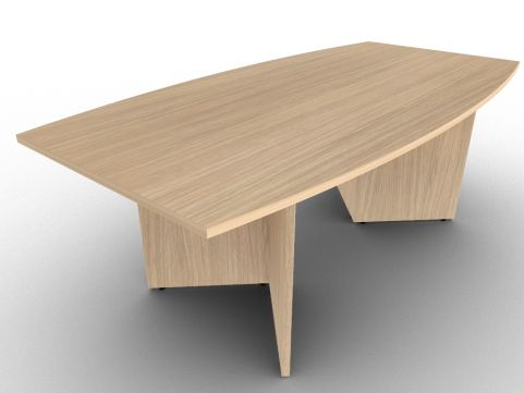 Verade Oak Avalon Boat Shaped Conference Table, 15 Stunning Finishes, Quick Assembly, Five Year Warranty