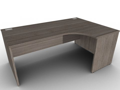 Avalon Anthracite Right Hand Corner Desk, A Range Of Different Finishes, Wipe Clean Scratch Resistant MFC