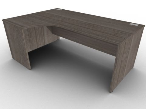 Anthracite Left Hand Corner Desk With Side Panels, Free Delivery And Installation