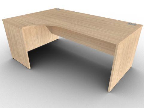 Avalon Verade Oak Left Hand Corner Office Desk With Side Panels, 15 Finishes, Free Delivery