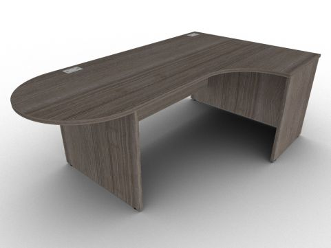Anthracite Right Hand Interactive Corner Office Desk, High Quality UK Construction, Cable Management