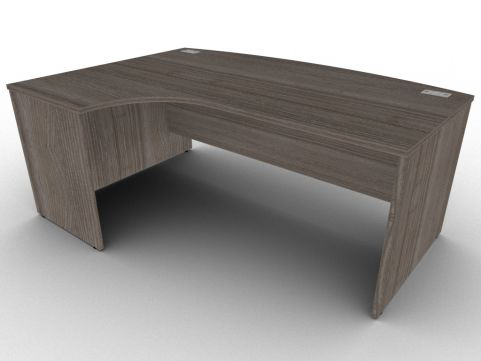 Anthracite Avalon Left Hand Side Panel Bow Front Corner Desk, 15 Stunning Finishes, ABS Edge Protection