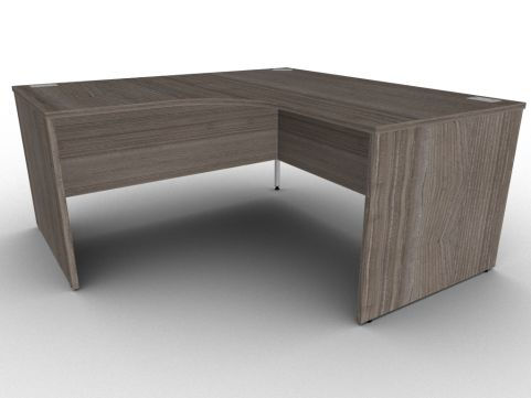 Anthracite Extra Large Corner Desk, Panelled Sides, Available In A Range Of Finishes With Free Installation