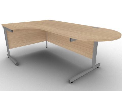 Avalon Verade Oak Left Hand Interactive Corner Desk