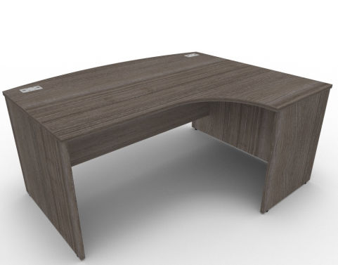 AVALON49 Avalon Right Hand Bow Front Anthracite Panel Desk With 17 Finishes, Free Delivery And Installation
