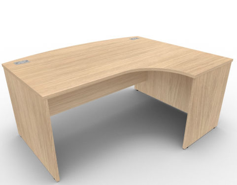 AVALON49 Avalon Right Hand Bow Front Verade Oak Panel Desk With 17 Finishes, 5 Year Warranty, Free Installation
