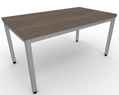 AVALON55 Avalon Steel Framed Coffee Table In Anthracite, Silver Metal Frame, 5 Year Warranty, Free Installation