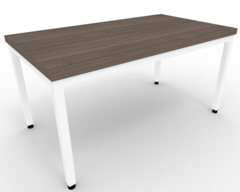 AVALON55 Avalon Steel Framed Coffee Table In Anthracite, White Metal Frame, 15 Finishes, Free Delivery